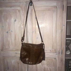 Tignanello Leather CrossBody Tassel Purse Handbag